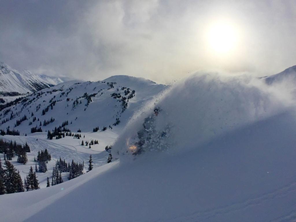 Powder in Quartz Creek on Friday Jan 29th.
