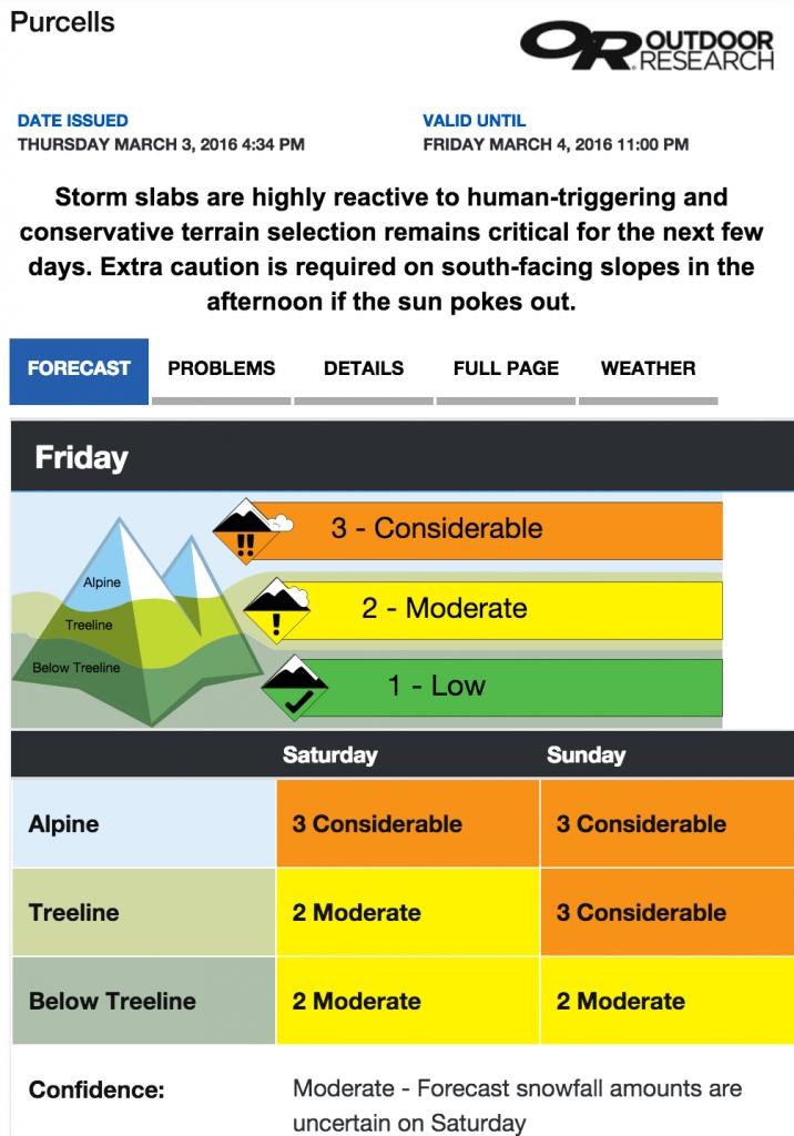 Avalanche.ca conditions