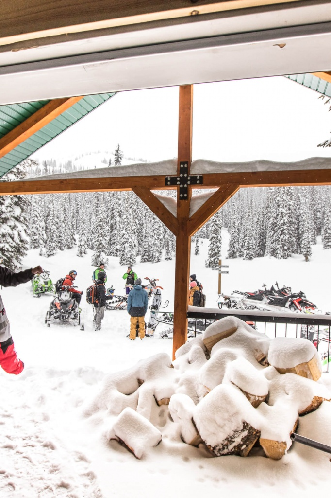 Storm day gathering at Quartz Cabin. Firewood stocked for the weekend. Jan 18, 2017