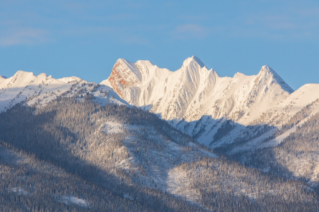 The Dogtooth mountains from town.