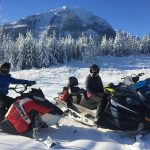 Nice moment for a break on Dec 20, with Golden Snowmobile Rentals.