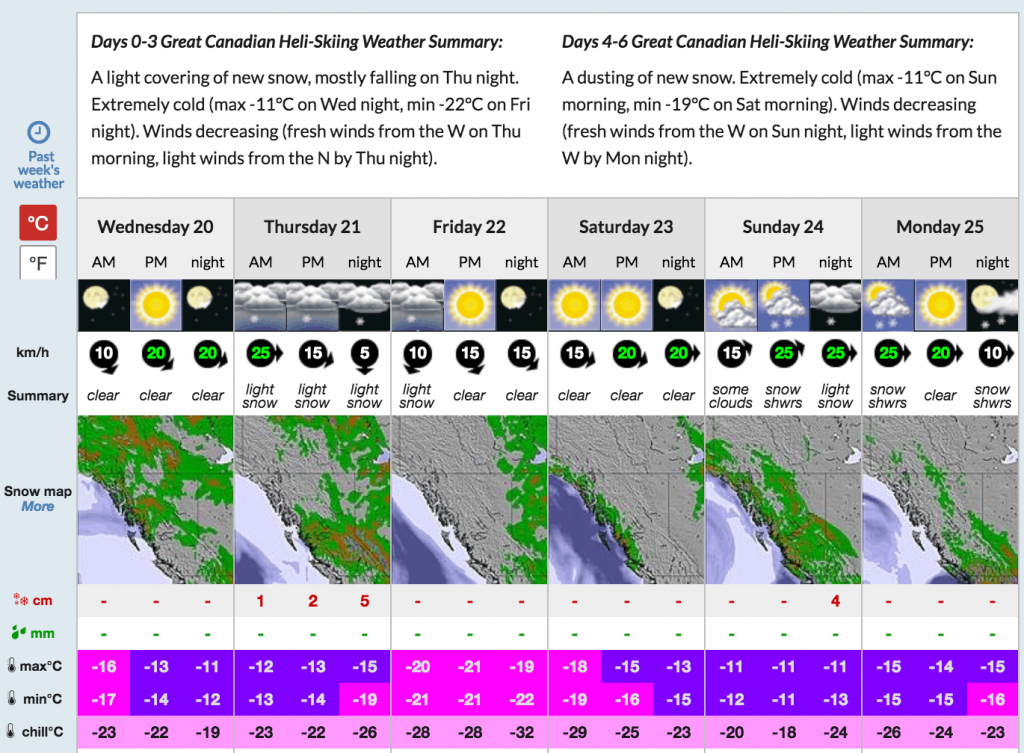 Weather and snow forecast for near Quartz Creek.
