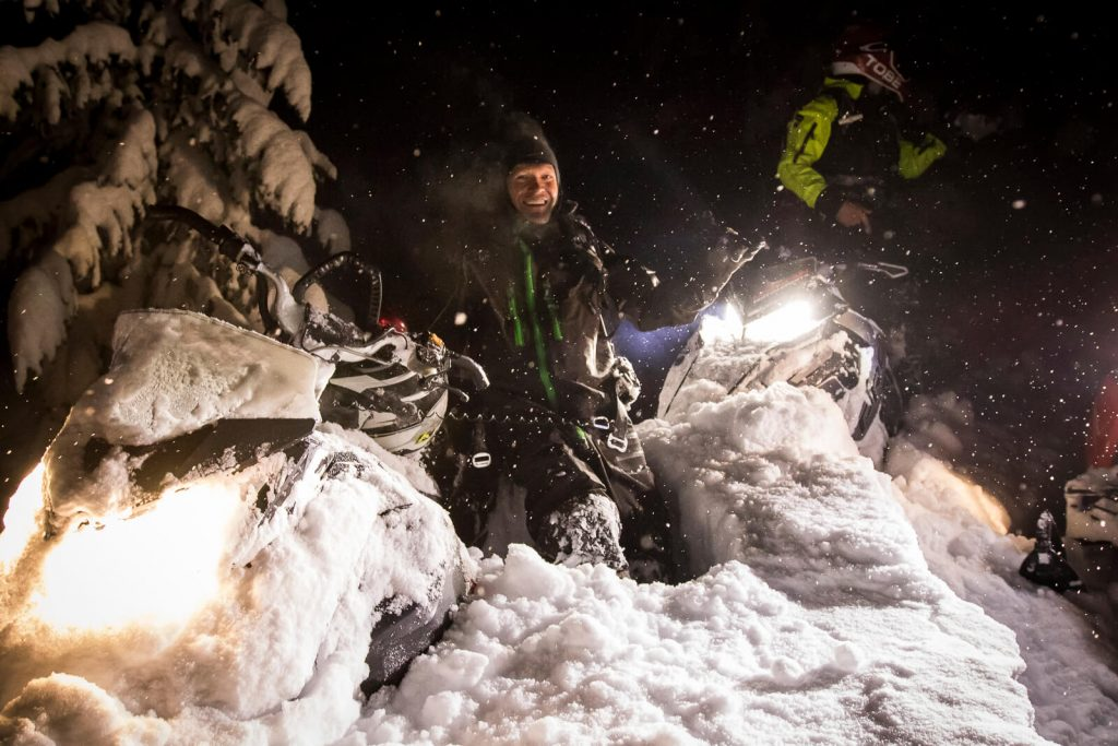 NIght shred in the deep. Photo @sledBiglines