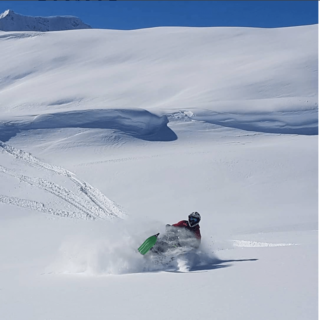 Awesome blue sky and powder. Photo VP Fuels