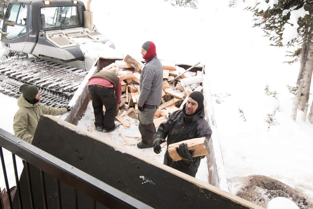 Firewood doesn't magically appear at Quartz cabin. It gets sorted and loaded and unloaded by quality volunteers. Please use the wood sparingly.