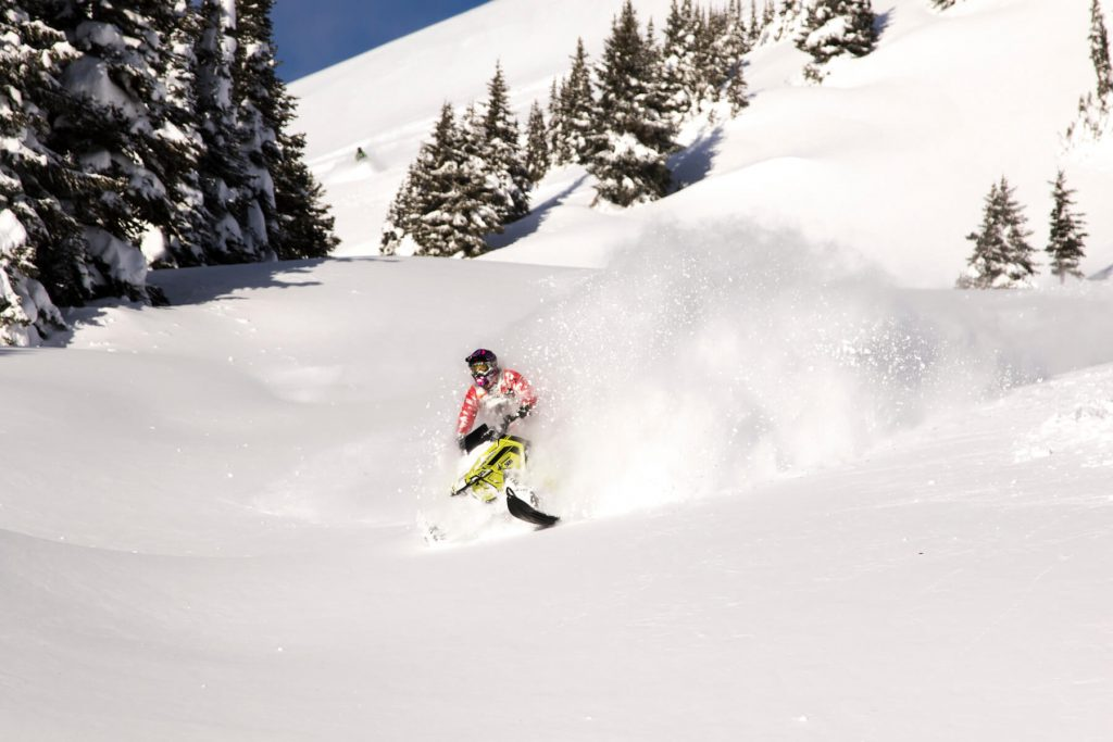 oh yeah. more pow pow with the Mountain Motorsports crew. Photo @sledbiglines