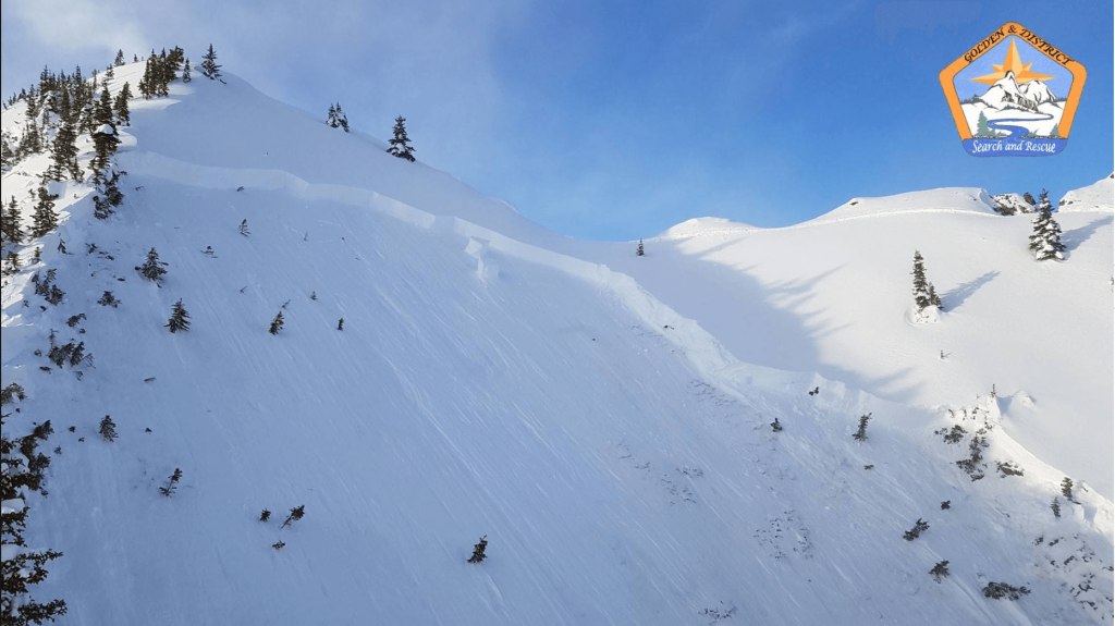 Avalanches in the Dogtooth range on Jan 7, 2018.