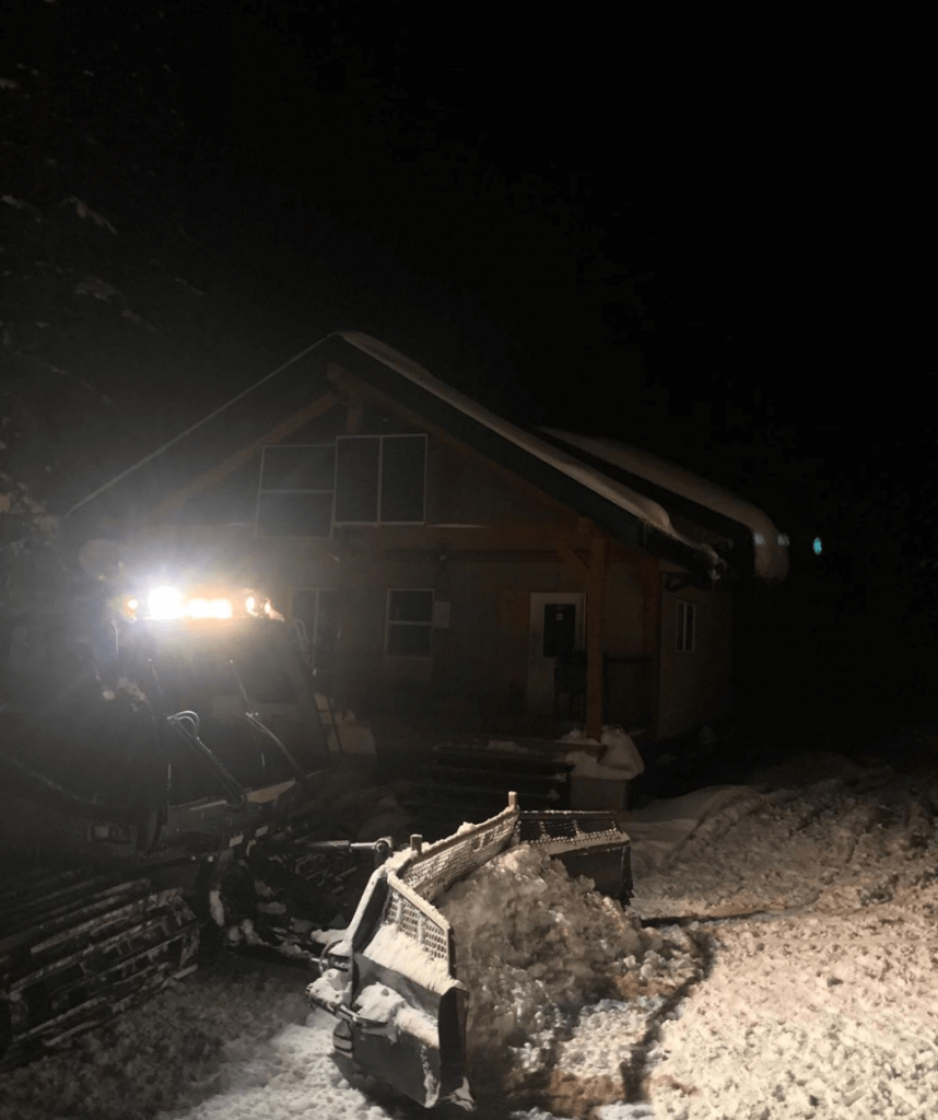Groomer makes it to Quartz cabin for the first time on Nov 25.