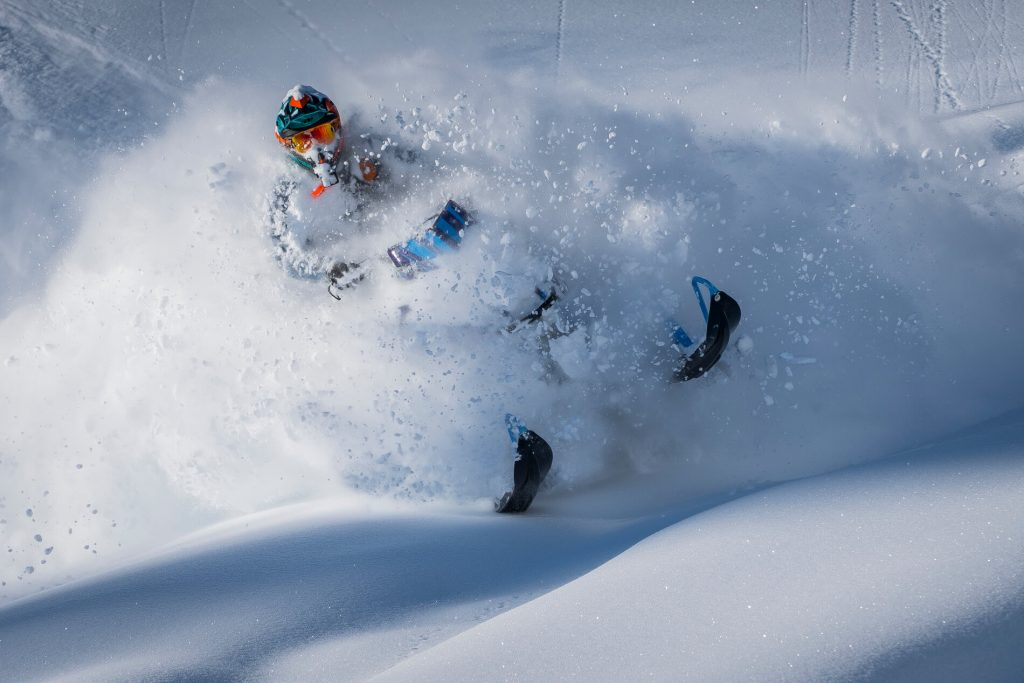 Pow in Quartz. Rider: Aaron Bernasconi, photo: TGFG
