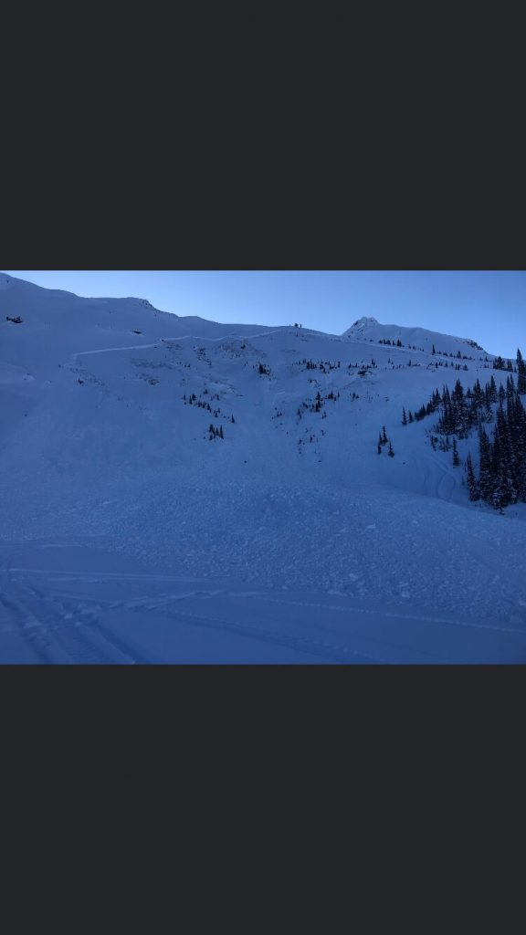 Dec 29 avalanche picture from Lang trees area.