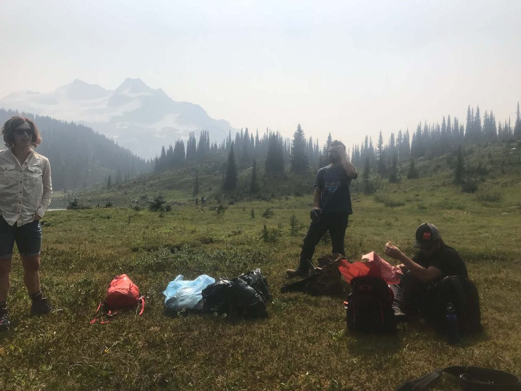 Collecting trash in Silent Pass